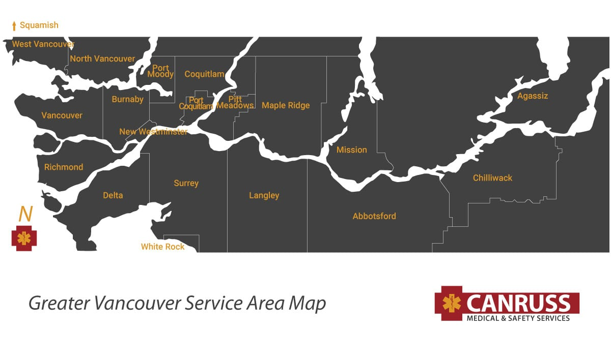 Canruss Medical Service Area Map